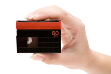 Holding a DV Cassette