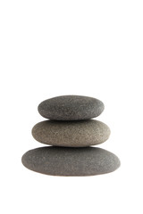 three balanced rocks