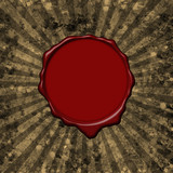Wax seal parchment background poster