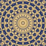Maya geometrical fantasy - blue yellow poster