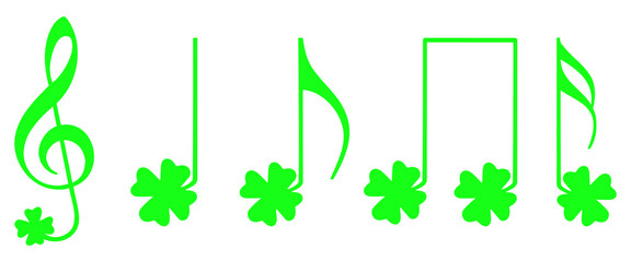 Shamrock musical notes