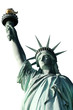 Statue of Liberty Top Half Portrait isolated