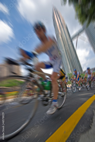 Cycling - zoom effect
