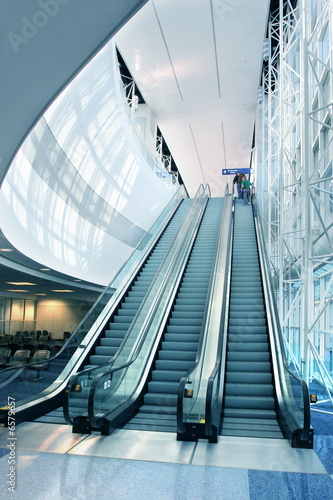 Escalator in Modern Airport - 6579657