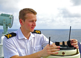 Navigation officer manages devices poster