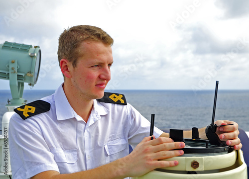 Navigation officer manages devices t-shirt