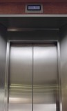 Lift Doors, Stainless Steel poster