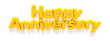 Happy Anniversary in yellow letter magnets poster