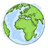 Fototapety Planète terre dessin