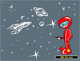 niño del espacio exterior