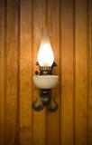 applique lampe savoyard vosgien lambris frisette torche lumière poster