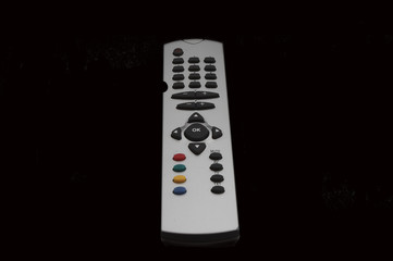 television joystick over black background