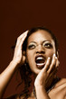 Scream (toned), screaming girl