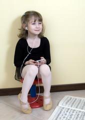 Ballerina in pausa