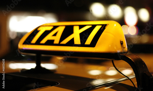canvas print picture TAXI