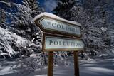 pollution écologie environnement nature préserver éco vert direc poster
