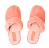 Pink slippers top view poster