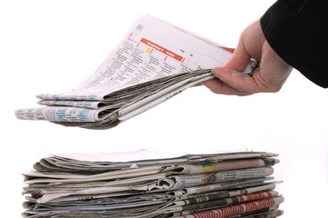 The newspaper business of news