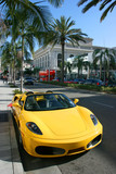 Yellow car, Rodeo drive, California