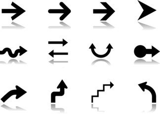Set icons - 8. Set of twelve vector icons