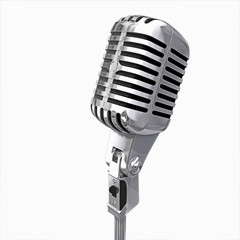 old microphone isolated © Molnia