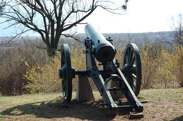 Cannon beside Skobelev park in Pleven , Bulgaria .