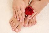 Fototapety manicure and pedicure