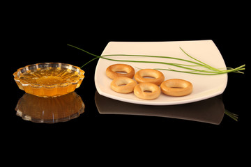 honey and bagels