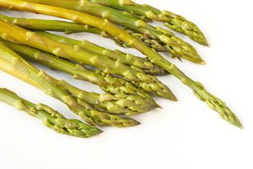 Green steamed asparagus