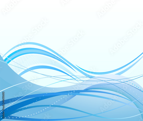 Abstract  artistic background blue water
