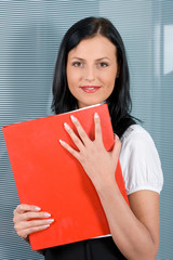 beautiful businesswoman with files2
