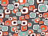 Fototapety retro lava flower squares