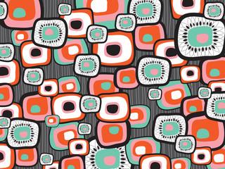 retro lava flower squares