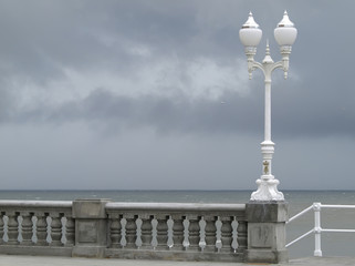 Farola,balustrada y barandilla
