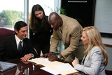 Fototapety Business Team Signing Contract