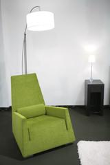 green easy-chair