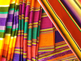 Colorful Mexican Blankets poster