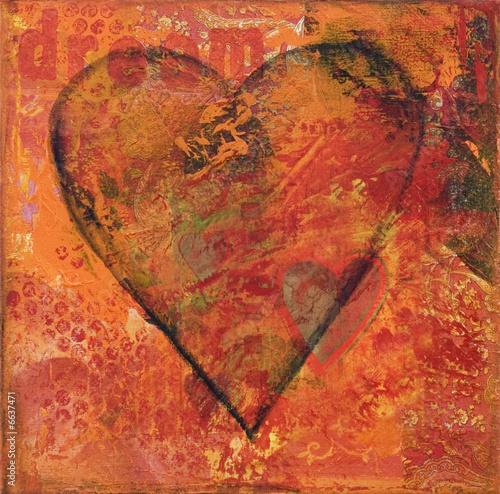 Leinwandbild Motiv Herz Malerei
