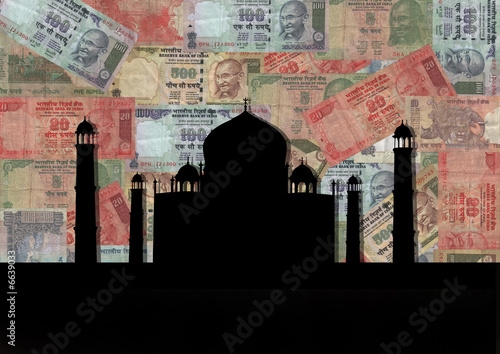 Taj Mahal with Rupees