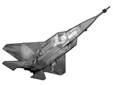 Technical illustration of a YF 22 Raptor fighter Jet. poster