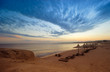 canvas print picture sunset in sharm el sheikh
