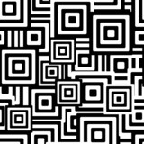 Retro black and white seamless rectangles background poster