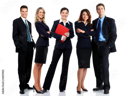 business people. Isolated over white background