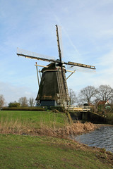 The windmill in Dutch countryside