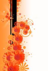 sfondo floreale arancio