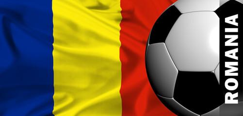 euro 2008 - national flag of romania