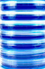 Abstract Stack of Petri Dishes