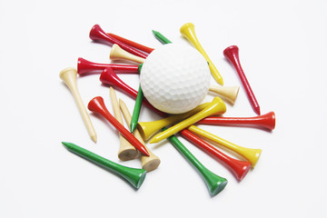Golf Ball and Golf Tees