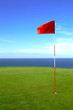 golf ; green 4 sur la mer