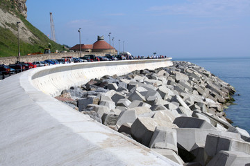 Coastal erosion defences england
